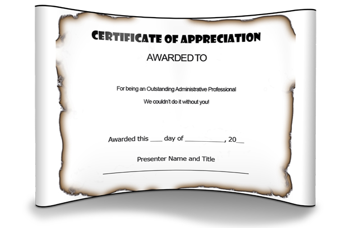 2win Design | Appreciation Certificate